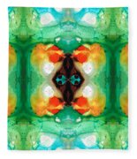 Life Patterns 1 - Abstract Art By Sharon Cummings Fleece Blanket