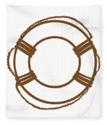 Life Preserver In Brown And White Fleece Blanket