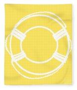 Life Preserver In White And Yellow Fleece Blanket