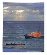 Lifeboats And A Gig Fleece Blanket
