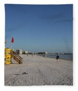 Lifeguard On Siesta Key Fleece Blanket