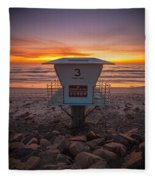 Lifeguard Tower At Dusk Fleece Blanket
