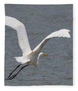 Lift Off - Egret 2013 Fleece Blanket