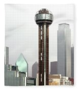 Lifting Fog On Dallas Texas Fleece Blanket