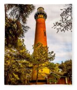 Light At Currituck Fleece Blanket