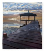 Light At The Lake Fleece Blanket