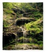 light flow at Cathedral Falls Fleece Blanket