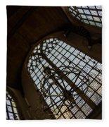 Light - Arched Windows And Golden Chandeliers Fleece Blanket