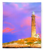 Light House Onthatcher Island Fleece Blanket