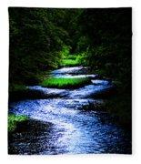 Light In The Creek Fleece Blanket