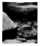 Light In The Stream Bw Fleece Blanket