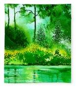 Light N Greens R Fleece Blanket