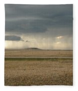 Light Near The End Of The Storm Fleece Blanket