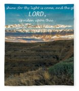 Light Of The Lord Fleece Blanket
