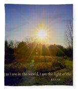 Light Of The World Fleece Blanket