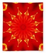 Light On A Tulip 2 Fleece Blanket