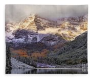 Light On Maroon Bells Fleece Blanket