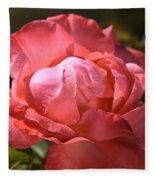 Light On Rose Fleece Blanket