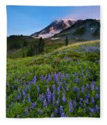 Light On The Mountain Fleece Blanket