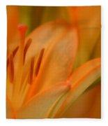 Light Orange Fleece Blanket