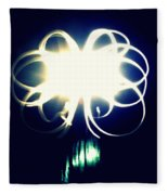 Light Painting Flower Fleece Blanket