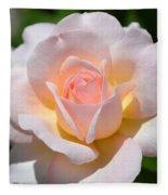 Light Pink Rose Fleece Blanket