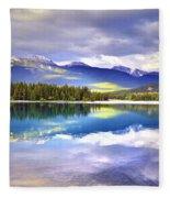 Light Play At Lake Annette Fleece Blanket