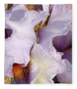 Light Purple Irises 2 Fleece Blanket