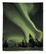 Light Swirls Over The Midnight Dome Fleece Blanket