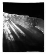 Light Through Mist In Cave Fleece Blanket