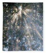 Light Throught The Trees Fleece Blanket