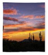 Light Up The Sky Southwest Style  Fleece Blanket