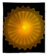 Light Wheel Fleece Blanket