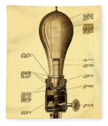 Lightbulb Patent Fleece Blanket