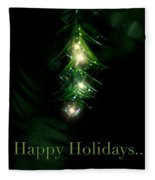 Lighted Dewdrops Holiday Greeting Card Fleece Blanket