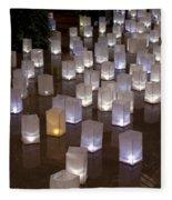 Lighted Lantern Bags Fleece Blanket
