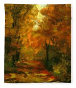 Lighted Trail Fleece Blanket