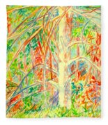 Lightening Struck Tree Again Fleece Blanket