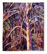 Lightening Struck Tree Fleece Blanket