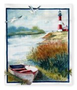 Lighthouse 1 Fleece Blanket