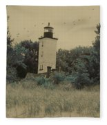 Erie Lighthouse Among The Trees Fleece Blanket