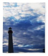 Lighthouse At Cape May Nj Fleece Blanket