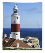 Lighthouse At Europa Point Gibraltar Fleece Blanket
