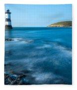 Lighthouse At Penmon Point Fleece Blanket