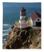 Lighthouse At Point Reyes Fleece Blanket