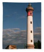 Lighthouse At Ouistreham Fleece Blanket