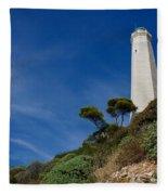 Lighthouse At Saint-jean-cap-ferrat France French Riviera Fleece Blanket