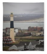 Lighthouse - Atlantic City Fleece Blanket