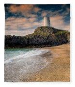 Lighthouse Beach Fleece Blanket