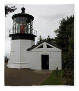 Lighthouse Cape Meares Fleece Blanket